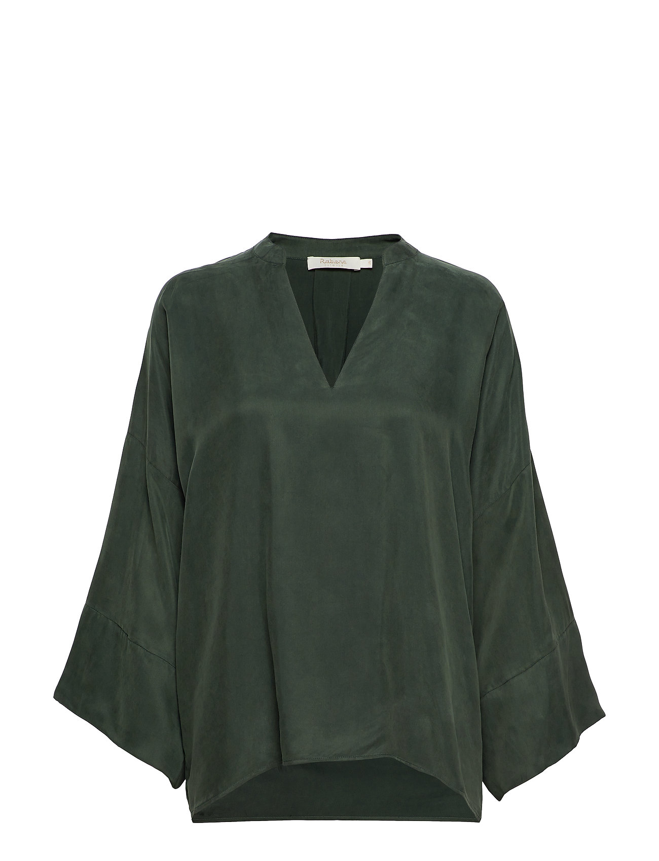Rabens Saloner Solid matte tunic - FOREST GREEN