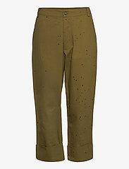 Rabens Saloner - Nannali - pantalons capri - army - 0