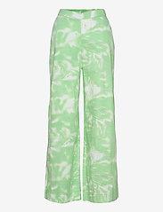 Rabens Saloner - Loa - bukser med brede ben - green combo - 0