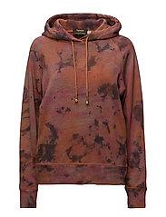 Tiedye hoodie - PINK ORANGE