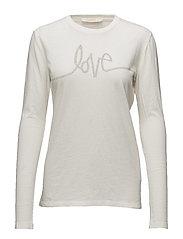 Love l/s T-shirt - OFF WHITE