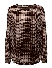 Houndstooth blouse - BLUSH