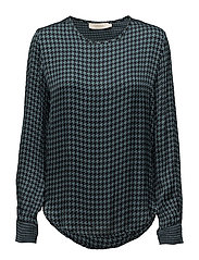 Houndstooth blouse - PETROL