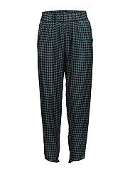 Houndstooth cropped pant - PETROL