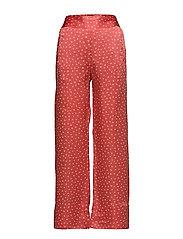 Dot wide leg pant - POPPY RED