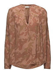 Camouflage l/s blouse - RED DESERT