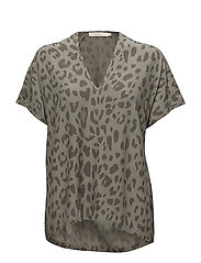 Bright leopard blouse - SAGE