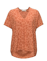Bright leopard blouse - SUNSET
