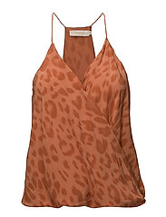 Bright leopard camisole top - SUNSET