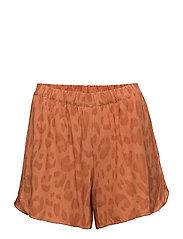 Bright leopard shorts - SUNSET