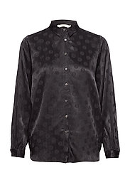 Dot jacquard shirt - BLACK