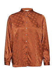 Dot jacquard shirt - GLAZED GINGER