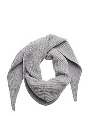 Soft rib scarf - GREY