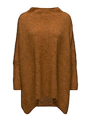 Mohair tunic sweater - BURNT ORANGE