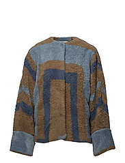 Tribal knit jacket - DENIM