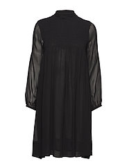 Smocking dress - BLACK