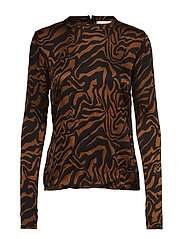 Safari tube blouse - COGNAC