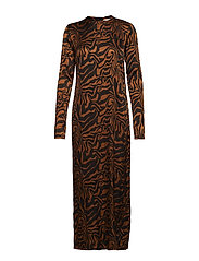 Safari tube dress - COGNAC