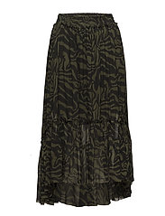 Safari frilly skirt - ARMY