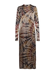 Abstract tube dress - AUBEGINE