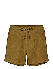 Towelling shorts - CAPERS GREEN