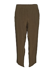 Sand washed pants - GREEN