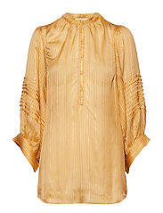 Lurex stripe shirt - TURMERIC