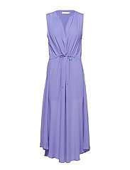 Crinkle drawstring dress - LAVENDER