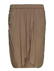 Crinkle skirt - GRANITE