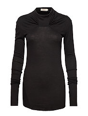 Warped wool top - FADED BLACK