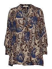 Rabens Saloner Wallflower blouse - NAVY