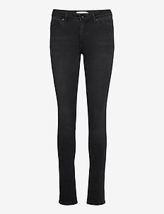 Washed black denim - skinny jeans - washed black