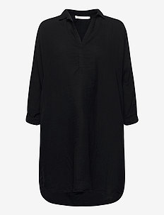 Oda - shirt dresses - black