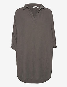 Oda - shirt dresses - gun metal