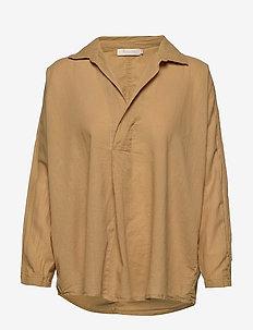 Cotton placket shirt - OAK