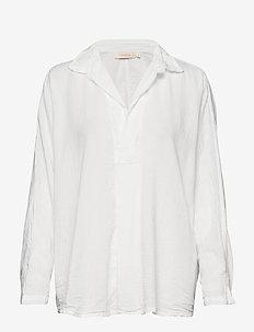 Cotton placket shirt - WHITE