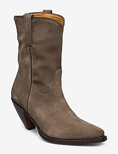 ANGULUS CowboyBiker boots army green Suede Women's Ankle
