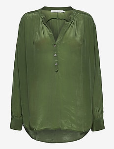Laia - blouses med lange mouwen - green