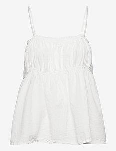 Hailey - ermeløse bluser - white