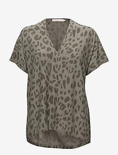 Bright leopard blouse - SAGE
