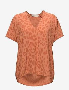 Bright leopard blouse - SUNSET