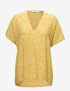 Bright leopard blouse - TURMERIC