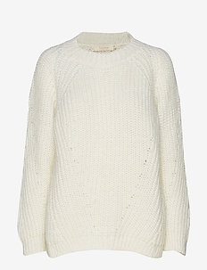 Glow boxy sweater - IVORY