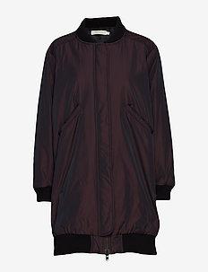 Duo tone coat - BURGUNDY