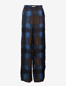 Geometric wide leg pant - BLUE