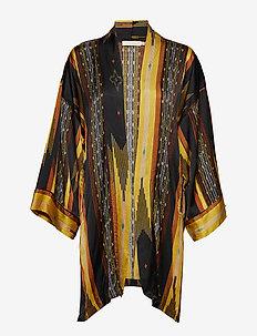 Mixed stripe kimono - YELLOW COMBO