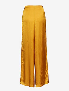 Solid wide leg pant - GOLD