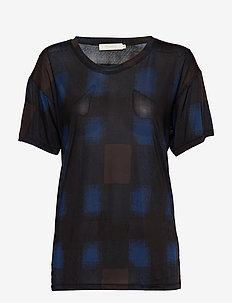 Geometric T-shirt - BLUE