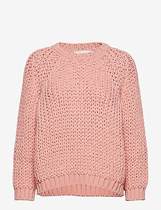 Rope knit boxy sweater - ROSE