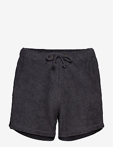 Towelling shorts - FADED BLACK